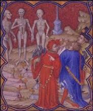 rencontre des trois morts et des trois vifs